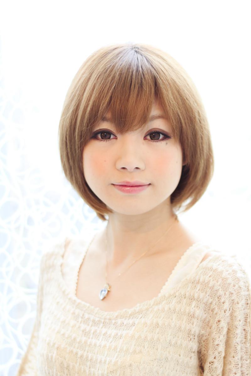 ショートヘア ストレート 短めはストレートでも可愛いです(*´∀`*)
