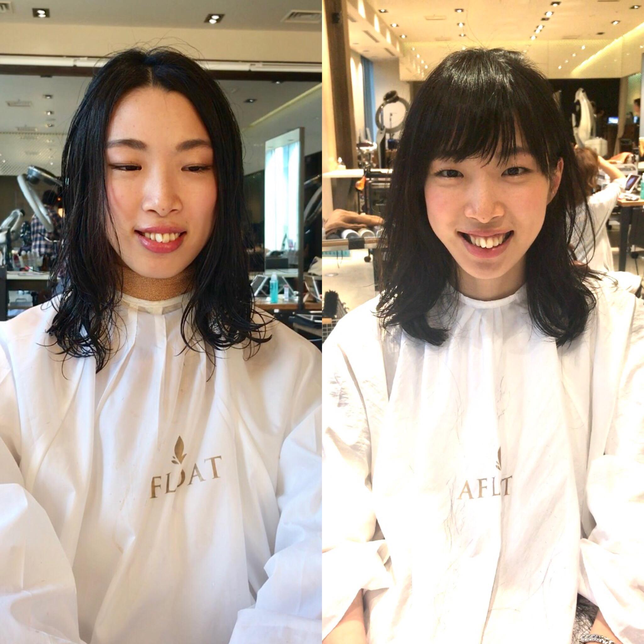 6年間の歴史を覆す前髪カット&前髪パーマ